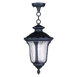 Black Oxford 17.5in. Height 1 Light Outdoor Pendant