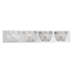 Chrome Chromata 4 Light Bathroom Vanity Light