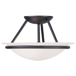 Black Newburgh Semi-Flush Ceiling Fixture with 2 Lights