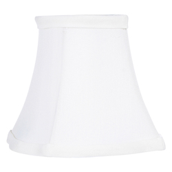 White Fancy Square Silk Clip Shade Chandelier Shade with White Fancy Square Silk Clip Shade from Chandelier Shade Series