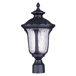 Black Oxford 19in. Height 1 Light Outdoor Post Light