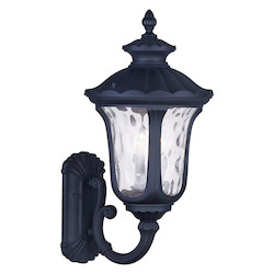 Black Oxford 22in. Height 3 Light Outdoor Wall Sconce