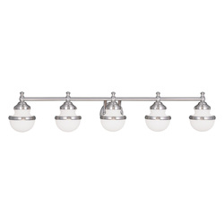 Brushed Nickel Oldwick 5 Light Bathroom Vanity Light