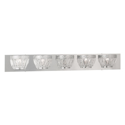 Chrome Chromata 5 Light Bathroom Vanity Light