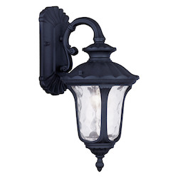 Black Oxford 16.25in. Height 1 Light Outdoor Wall Sconce