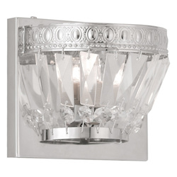 Chrome Chromata 1 Light Bathroom Sconce
