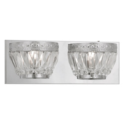 Chrome Chromata 2 Light Bathroom Vanity Light