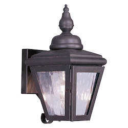 Bronze Cambridge 1 Light Outdoor Wall Sconce