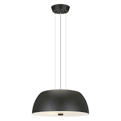 Black 2 Light Pendant from the Ryan Collection - (Bulbs Included)