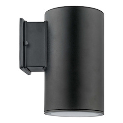 Eglo One Light Black Outdoor Wall Light - 200146A