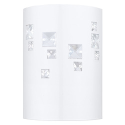 Eglo One Light White Wall Light - 92659A