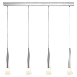 Matte Nickel 4 Light Island / Billiard Fixture from the Legnano Collection - (Bulbs Included)