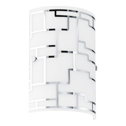 Eglo One Light Chrome Wall Light - 92564A