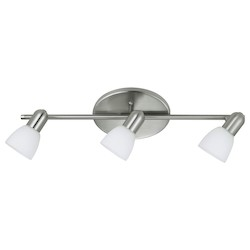 Matte Nickel Dakar Three-Bulb Wall Sconce
