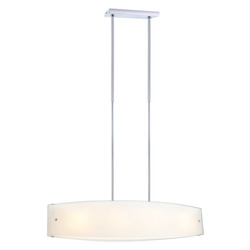 Chrome 4 Light Foyer Pendant from the Lazio Collection - (Bulbs Included)