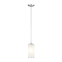 Matte Nickel 1 Light Mini Pendant from the Felice Collection