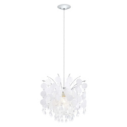 Chrome Fedra Large Ceiling Mount Pendant with Crystal Glass