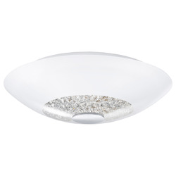 Eglo Two Light Chrome Bowl Semi-Flush Mount - 92711A