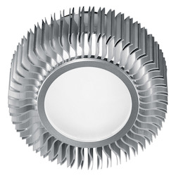 Aluminum 1 Light Flush Mount Ceiling Fixture from the Chiron Collection
