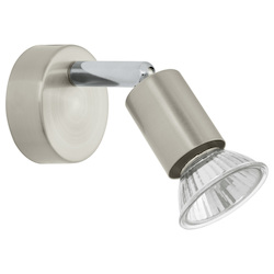 Nickel and Chrome Buzz Single-Light Wall Sconce