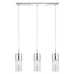 Chrome Diamond 3x60W Trestle Hanging Light in Chrome Finish