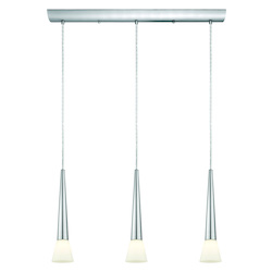 Matte Nickel 3 Light Island / Billiard Fixture from the Legnano Collection - (Bulbs Included)