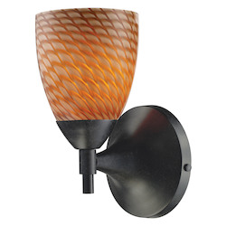 One Light Deep Rust Coco Glass Wall Light - ELK Lighting 10150/1DR-C-LED