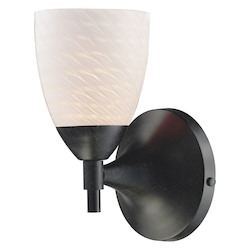 One Light Deep Rust White Swirl Glass Wall Light - ELK Lighting 10150/1DR-WS-LED