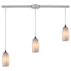 Three Light Satin Nickel Multi Light Pendant - ELK Lighting 10223/3L-coc