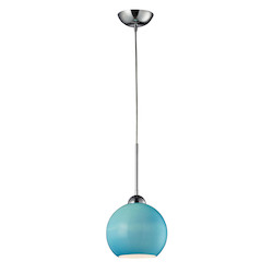 One Light Polished Chrome Down Pendant - 132973