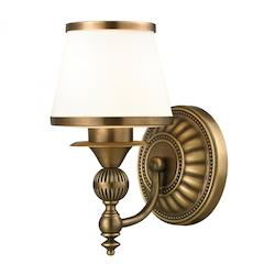 Smithfield - One Light Bath Bar Aged Brass Finish - ELK Lighting 11610/1
