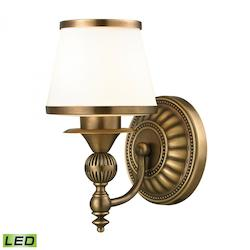"Smithfield - 6"" Led Bath Bar Aged Brass Finish - ELK Lighting 11610/1-LED"