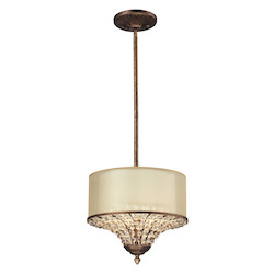 Crystal Spring 3 Light Drum Pendant - ELK Lighting 11700/3