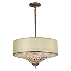 Crystal Spring 3 Light Drum Pendant - ELK Lighting 11701/4