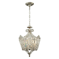Aged Silver Villegosa 6 Light Pendant - ELK Lighting 11710/6