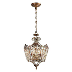 Villegosa Collection 6 Light Pendant In Spanish Bronze - ELK Lighting 11720/6