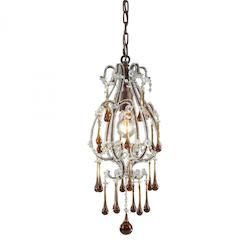 One Light Rust Down Mini Pendant - ELK Lighting 12013/1AMB