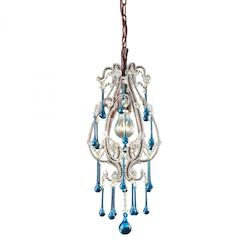 One Light Rust Down Mini Pendant - ELK Lighting 12013/1AQ