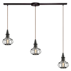 Yardley Collection 3 Light Chandelier In Oil Rubbed Bronze - 133686