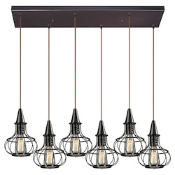 Yardley Collection 6 Light Chandelier In Oil Rubbed Bronze - 133688