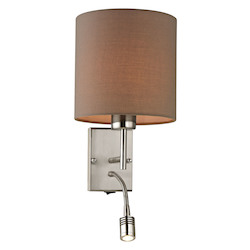Regina Collection 2 Light Led Sconce In Brushed Nickel - ELK Lighting 17151/2-LED