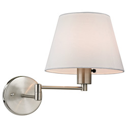 Avenal Collection 1 Light Led Swingarm In Brushed Nickel - ELK Lighting 17153/1-LED