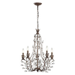 Sagemore Collection 5 Light Chandelier In Bronze Rust - ELK Lighting 18143/5