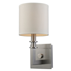 One Light Satin Nickel Wall Light - ELK Lighting 20150/1