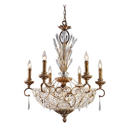 Twelve Light Spanish Bronze Up Chandelier - ELK Lighting 2404/6+6