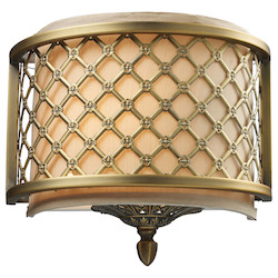 One Light Brushed Antique Brass Wall Light - ELK Lighting 31030/1