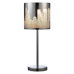 Skyline 1-Light Portable Lamp In Polished Stainless Steel - ELK Lighting 31036/1
