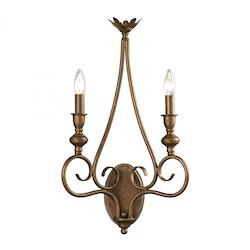 Hamilton Collection 2 Light Sconce In Mocha - ELK Lighting 31390/2