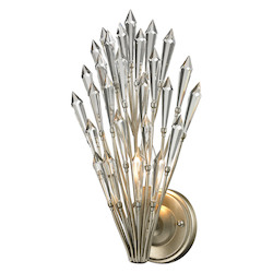 Viva Collection 1 Light Sconce In Aged Silver - ELK Lighting 31430/1