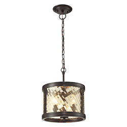 Chandler Collection 3 Light Pendant In Oil Rubbed Bronze - ELK Lighting 31451/3